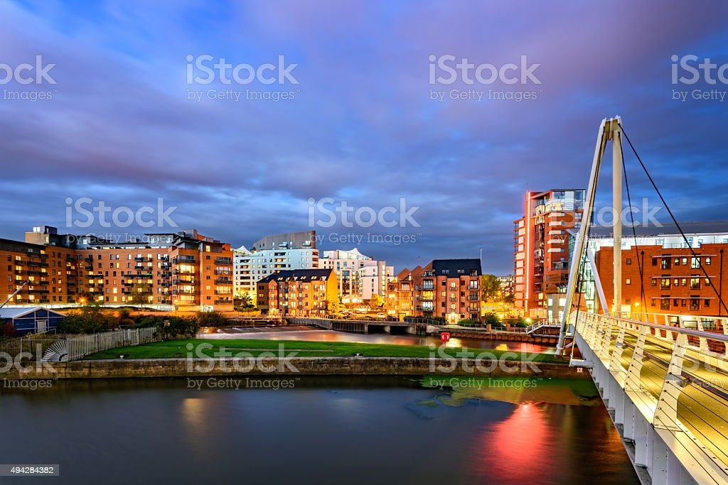 Leeds skyline stock photo