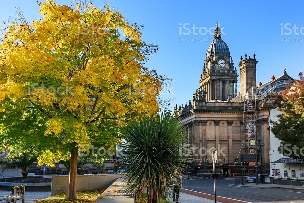 Leeds Town Hall -Leeds- West Yorkshire, England stock photo