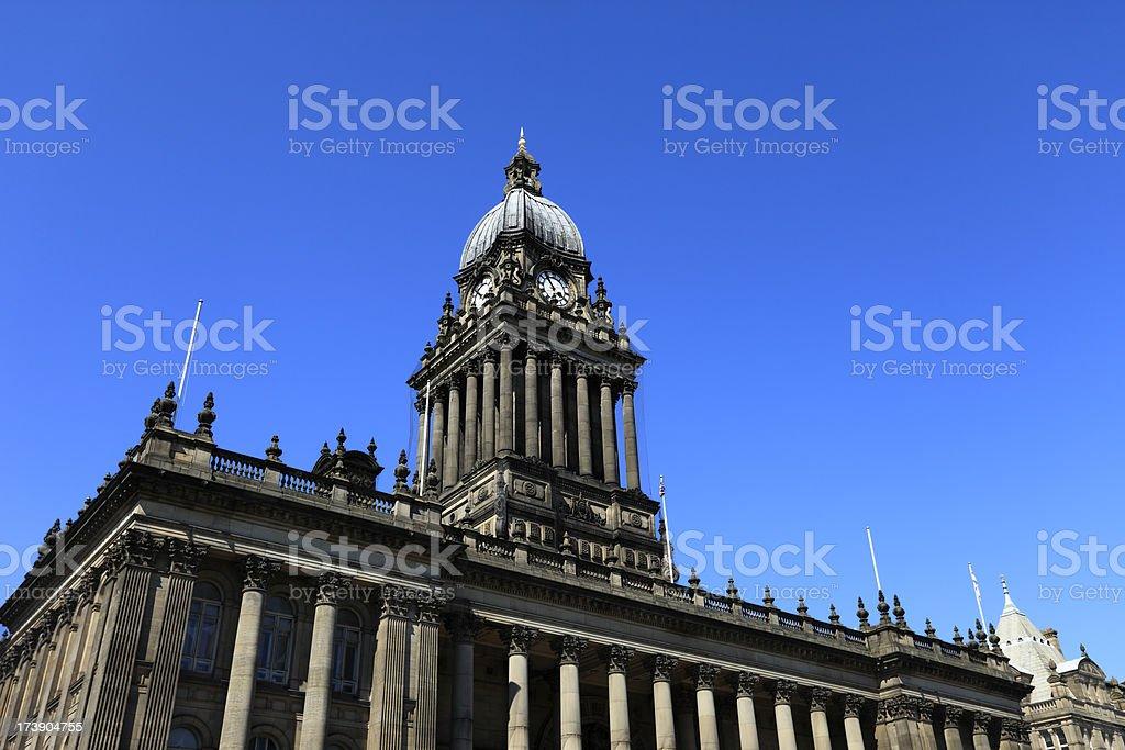 Leeds Town Hall stock photo