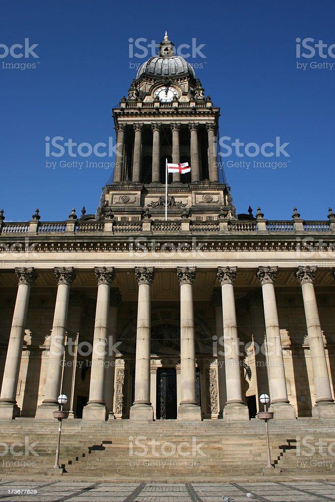 Leeds town hall venue stock photo