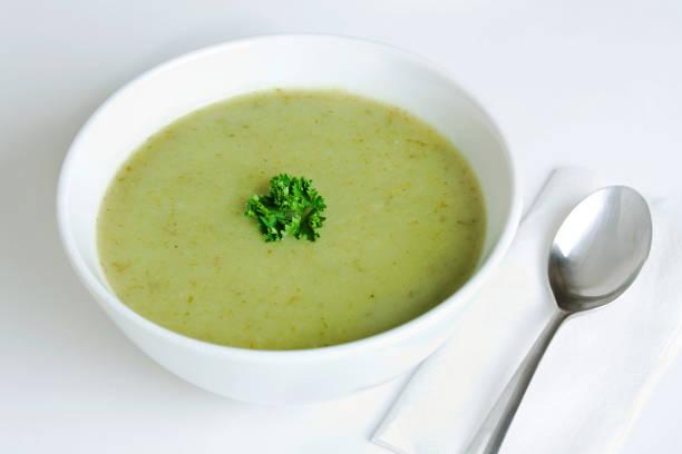 Leek and Potato Soup stock photo