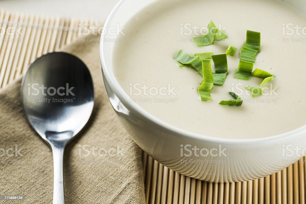Leek soup royalty-free stock photo