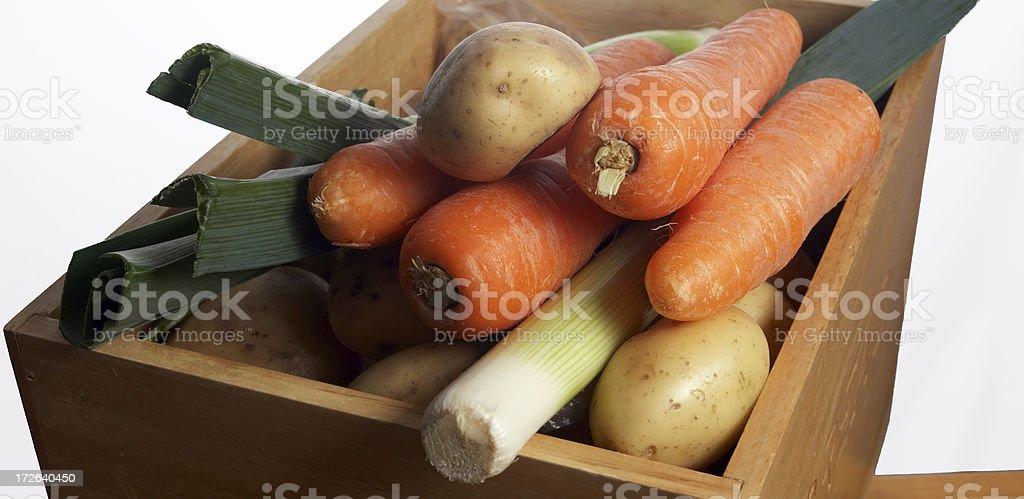 leeks carrots and potatoes