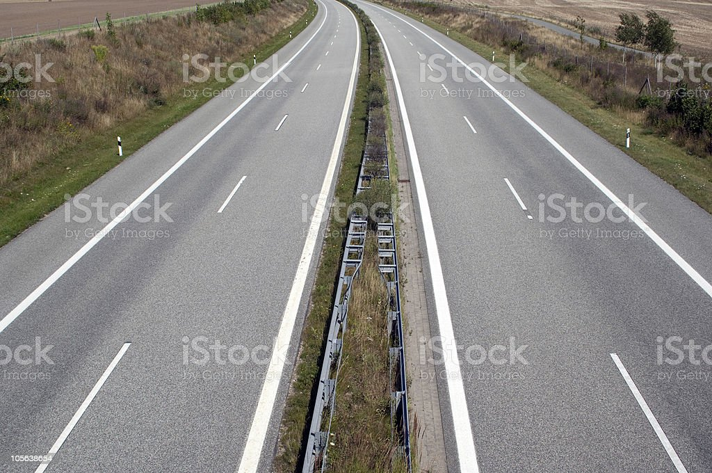 leere Autobahn bei Schwerin, Deutschland stock photo