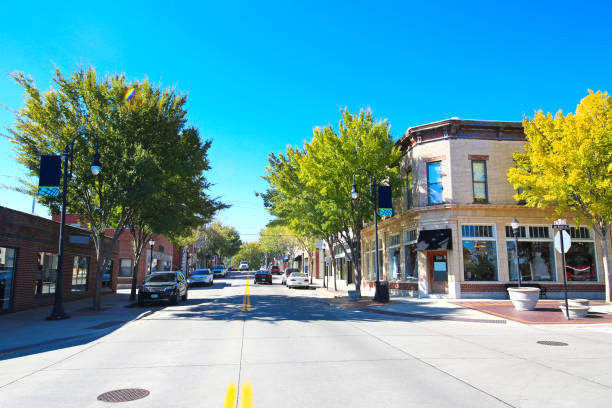 lees summit missouri historic downtown - town stock pictures, royalty-free photos & images