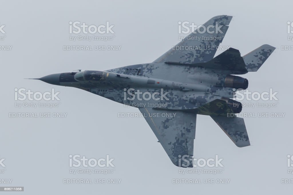 Leeuwarden Netherlands June 11 2016: Slovak Air Force MiG 29 stock photo