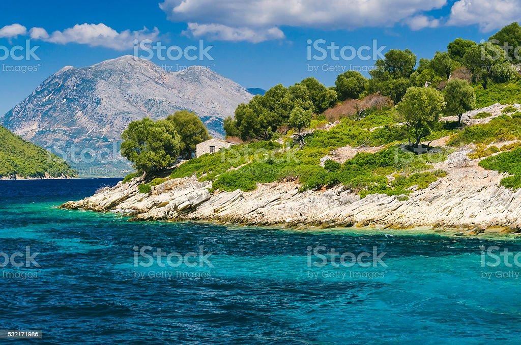 Lefkada islands stock photo