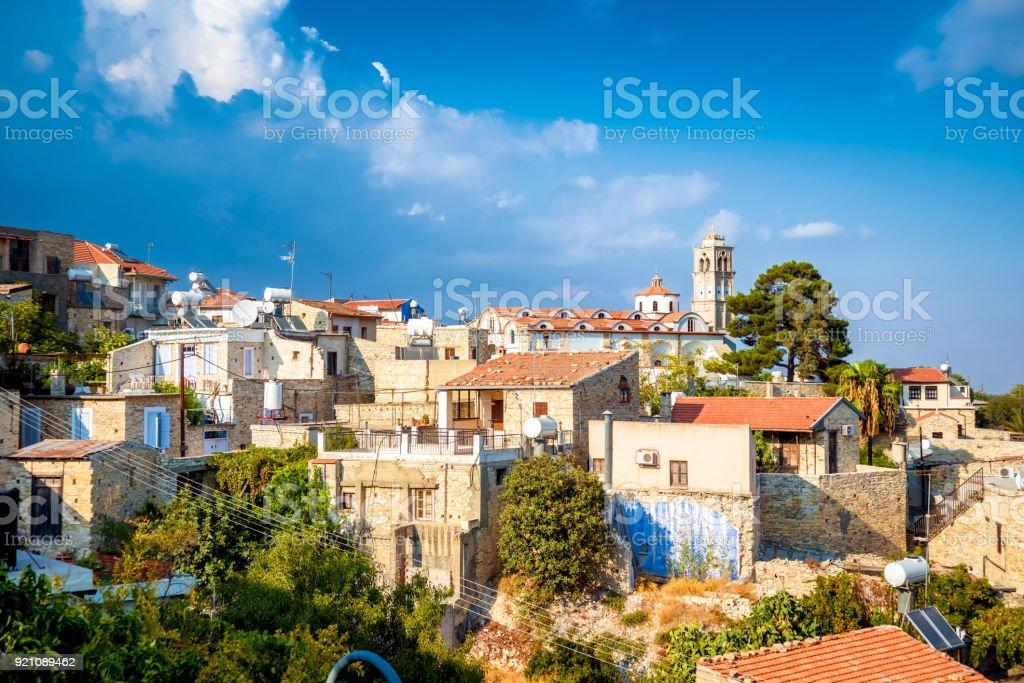 Lefkara. Picturesque mountain village. Larnaca District, Cyprus stock photo