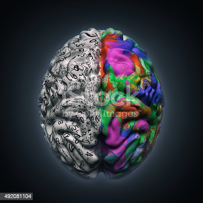 istock left and right sides of brain functions 492081104