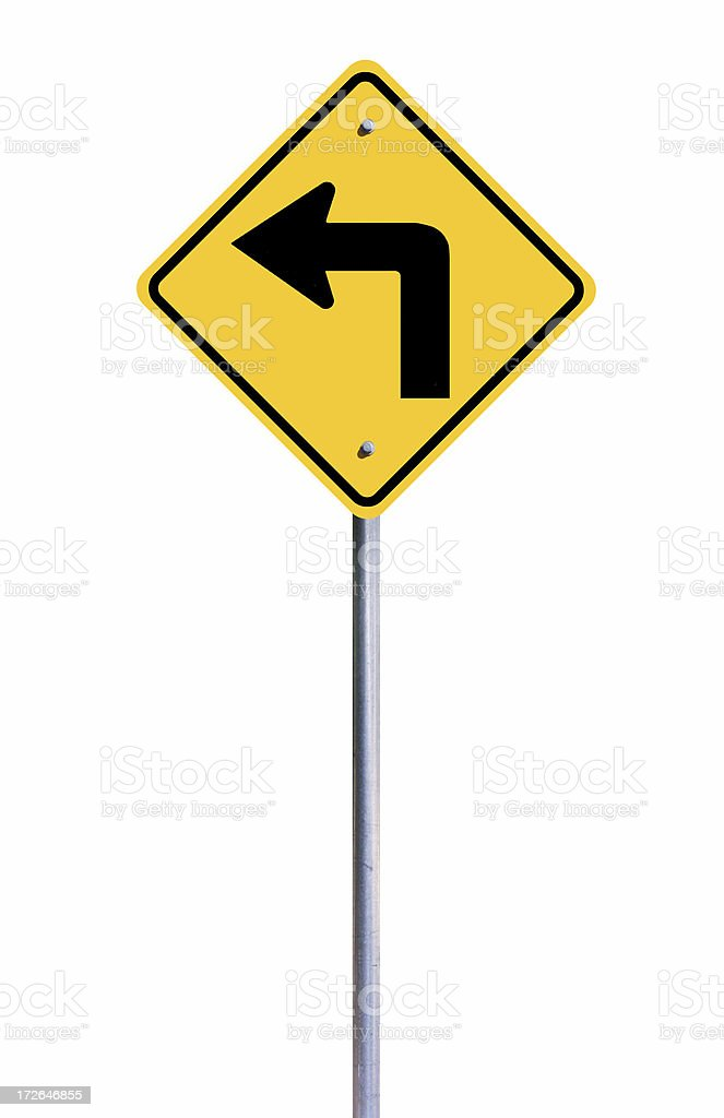 Left Arrow Sign royalty-free stock photo
