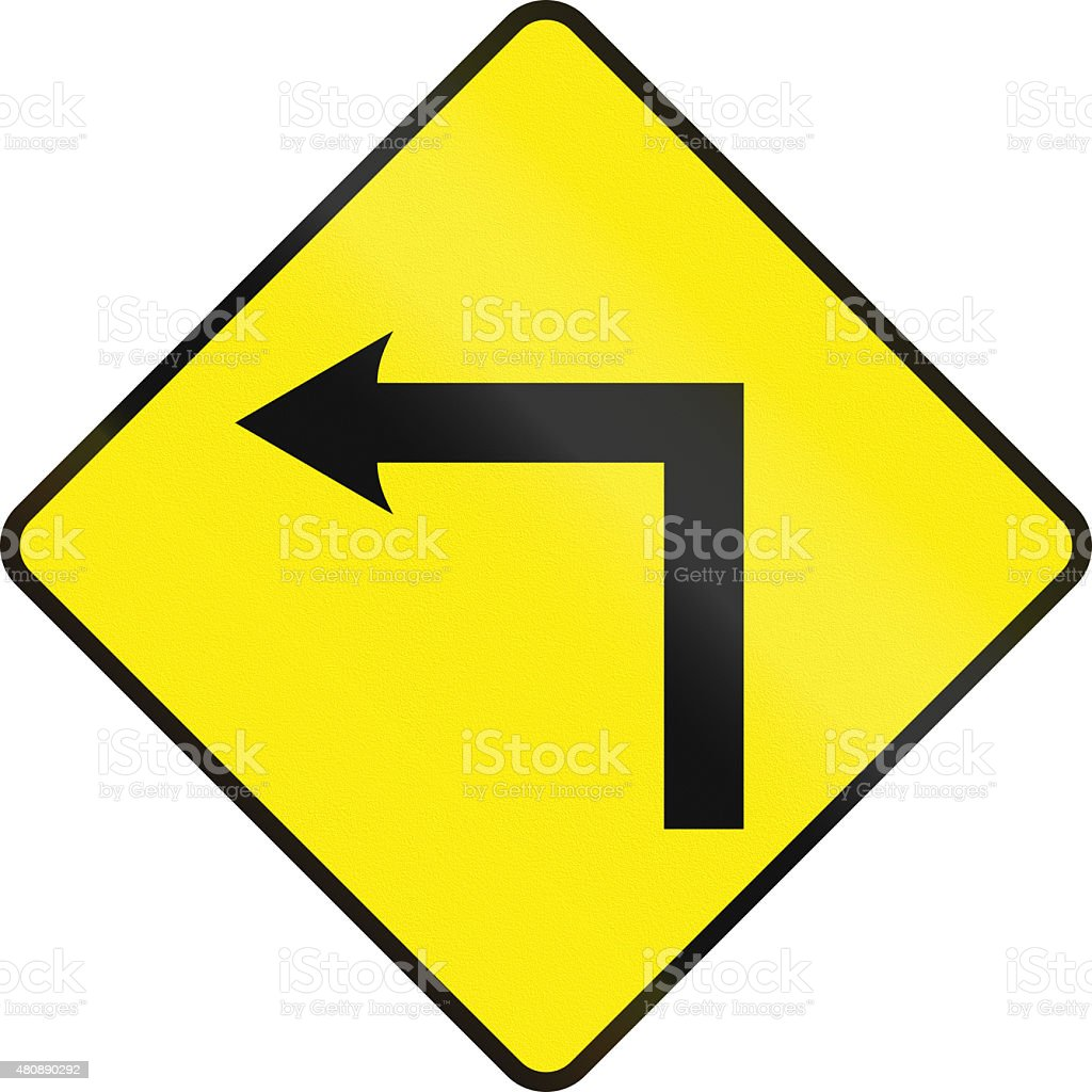 Left Curve Ahead In Ireland stock photo