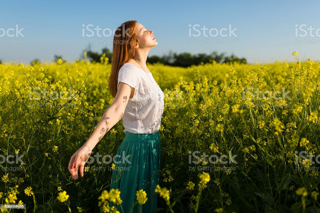 Left daydreaming stock photo
