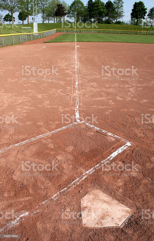 Left Field Line royalty-free stock photo