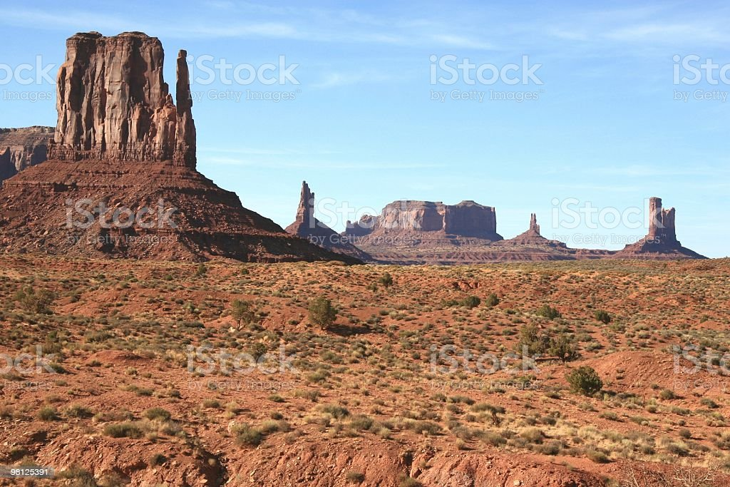Left Mitten, Monument Valley, Arizona, Southwest USA royalty-free stock photo