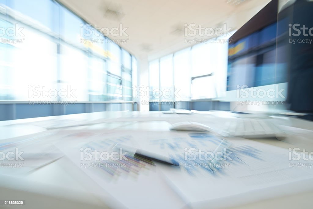 Left office stock photo