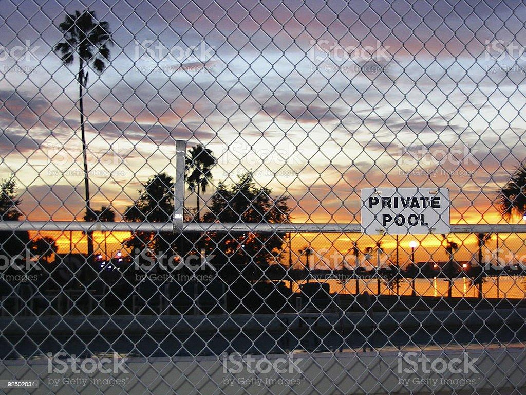 left out/private pool royalty-free stock photo