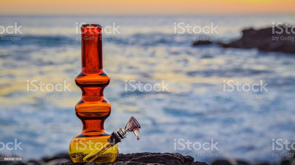 Left side Bong ocean stock photo