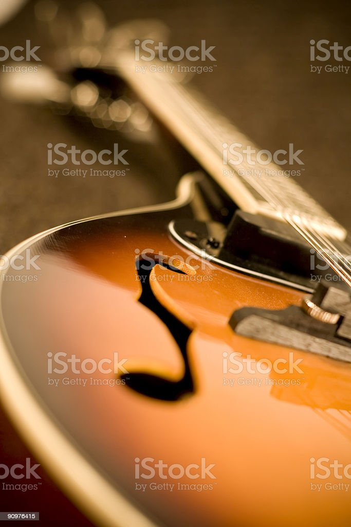 Left side of a Mandolin stock photo