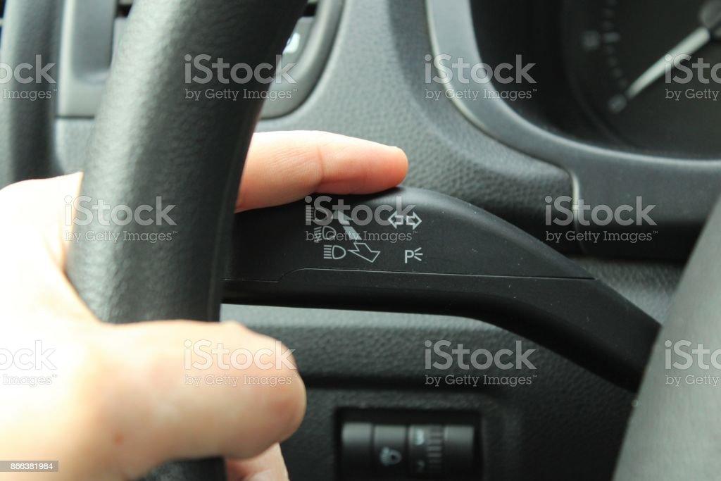 Señal de izquierda. foto de stock libre de derechos