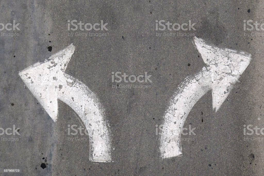 Left, straight or right stock photo