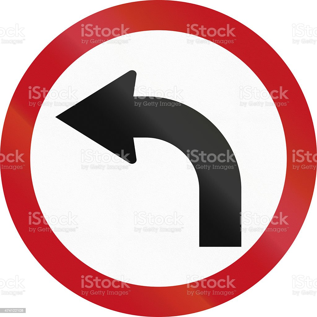 Left Turn in Colombia stock photo