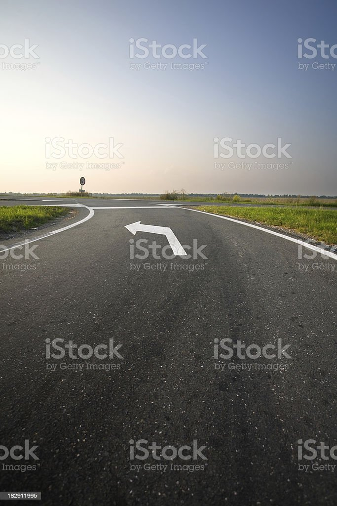 Left turn stock photo