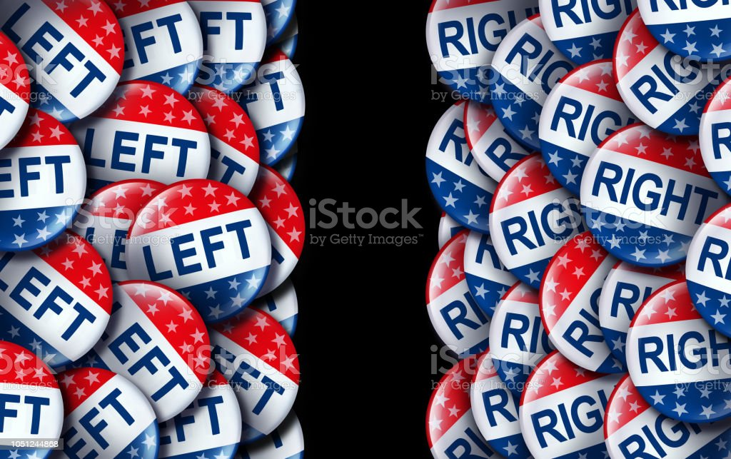 Left Wing And The Right stock photo