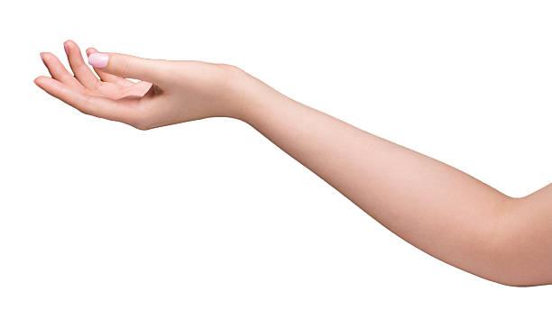 Frau hand links – Foto