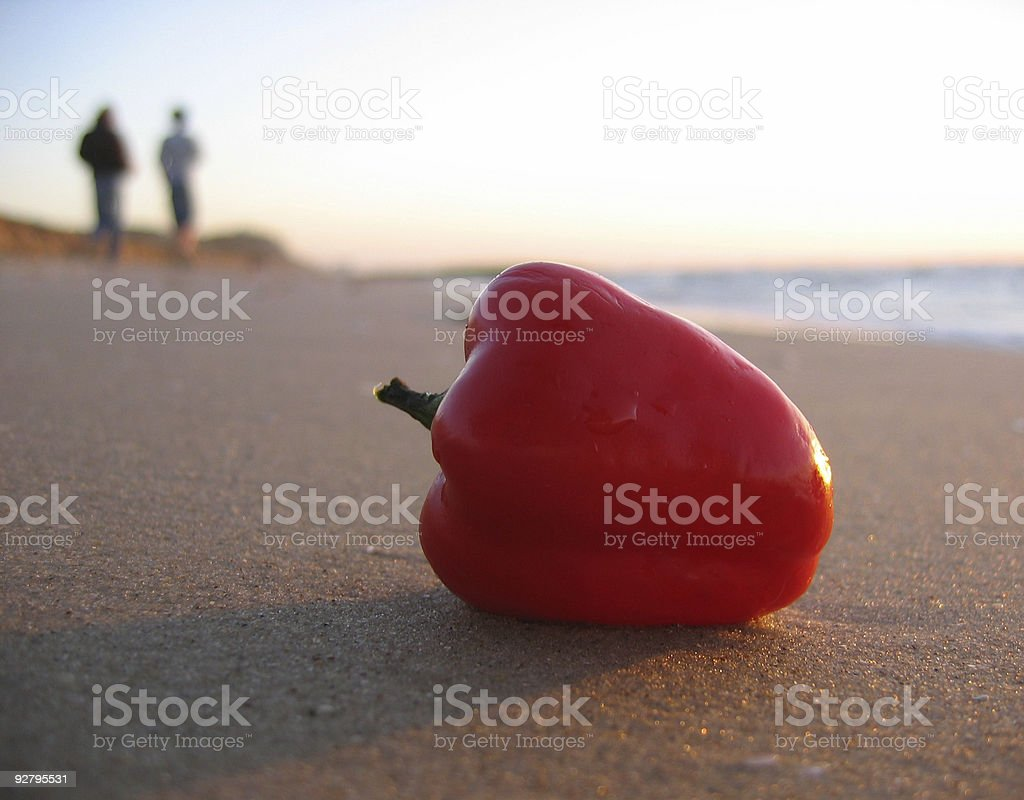 Leftover pepper royalty-free stock photo