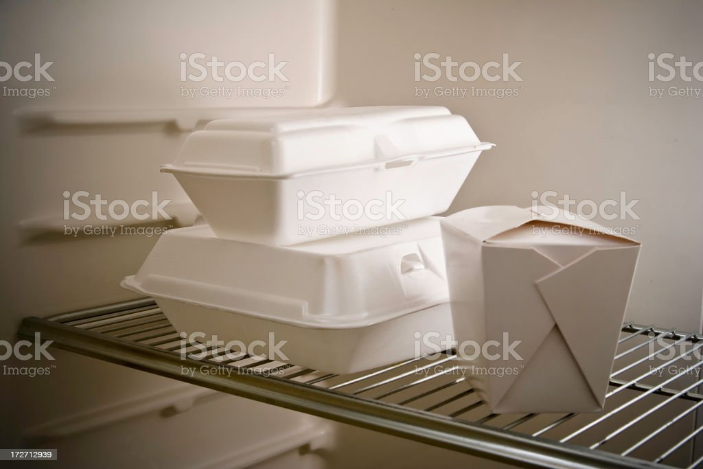 Leftovers Again Take Out Food royalty-free stock photo
