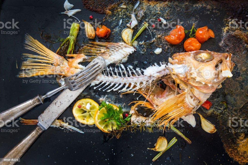 Leftovers Of Redfish Stock Photo Istock