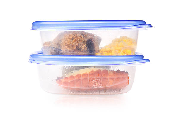 Leftovers Dinner leftovers in plastic containers.Similar picture: leftovers stock pictures, royalty-free photos & images