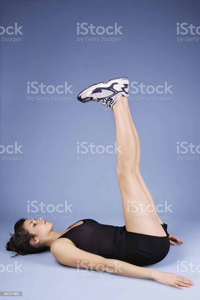 Leg and Back Stretch stock photo