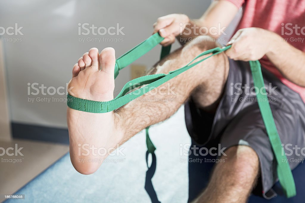 Leg exercises stock photo