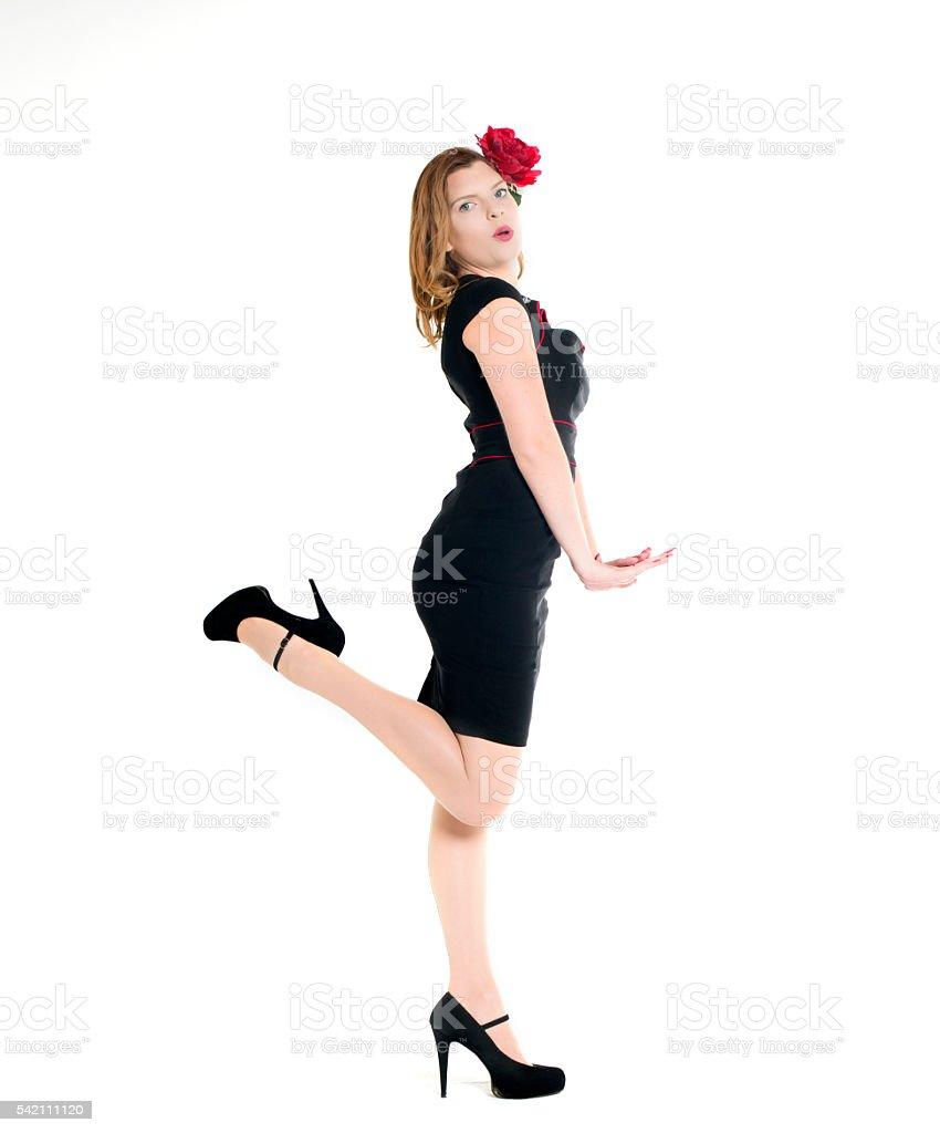 leg flick stock photo