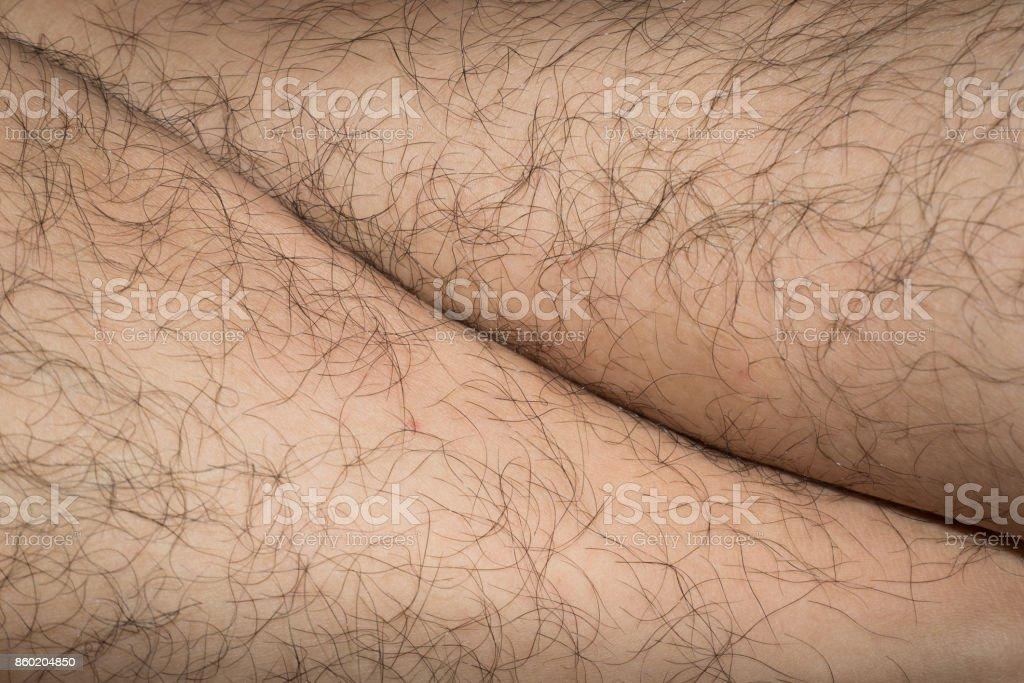 Leg Hair stock photo