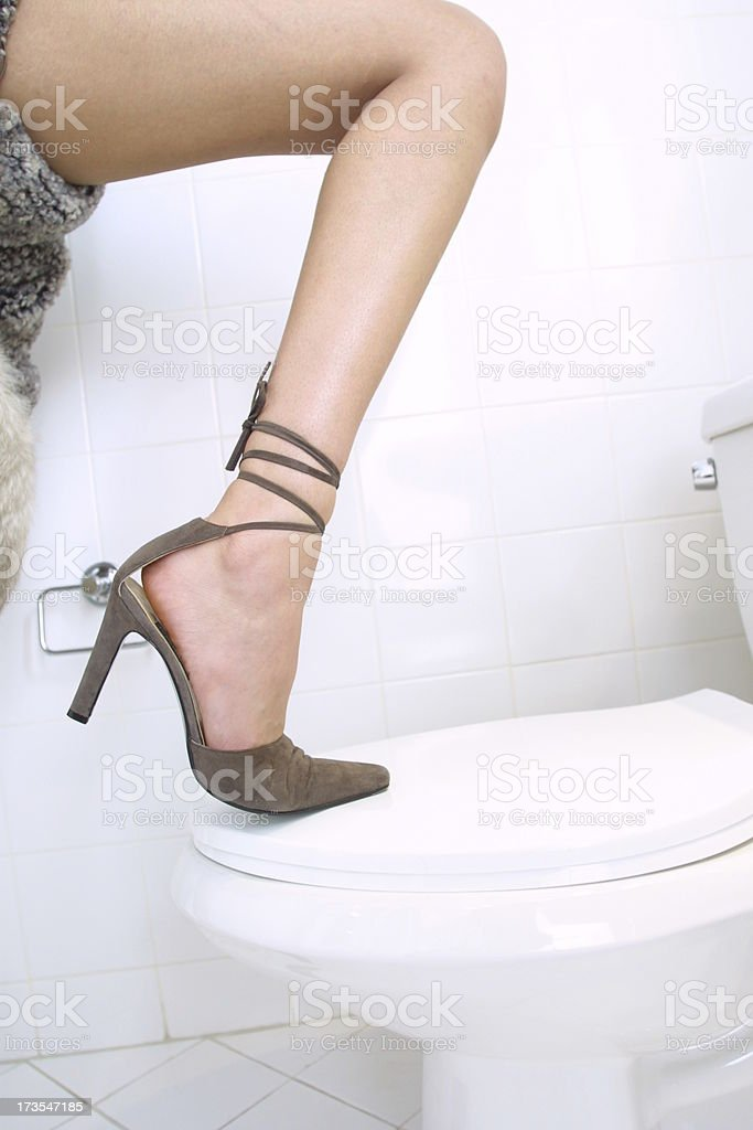 leg in bathroom v2 royalty-free stock photo