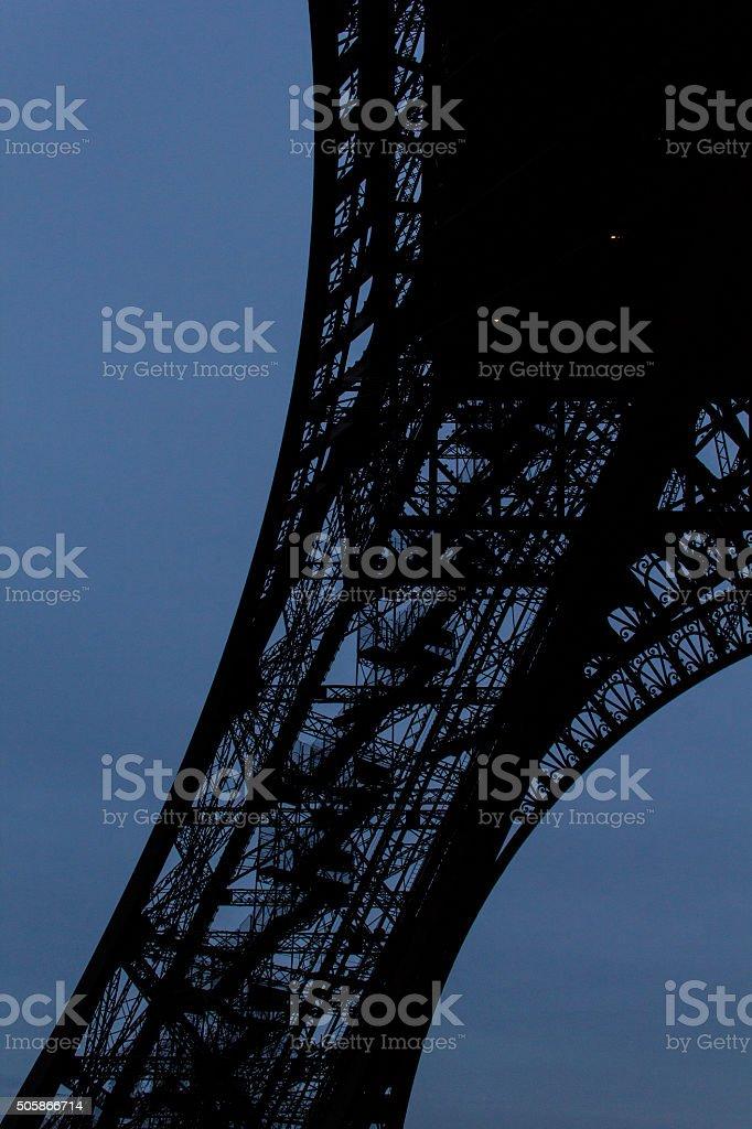 Leg of Eiffel tower, Paris stock photo