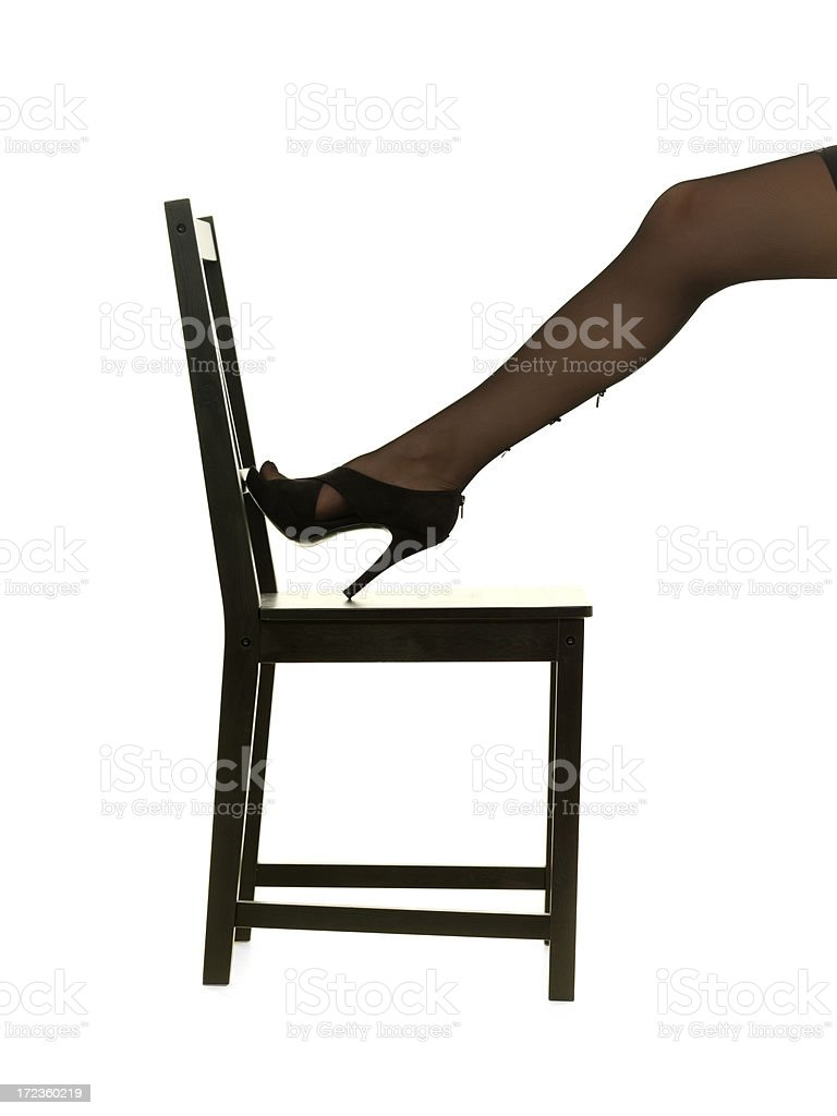 leg on the chair royalty-free stock photo