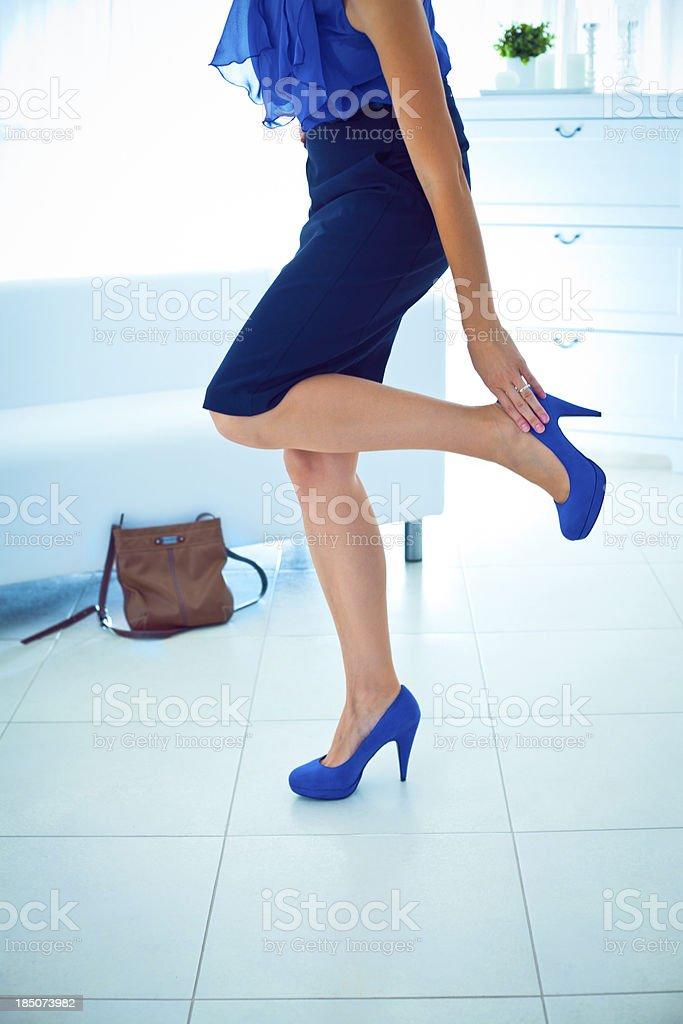 Leg pain royalty-free stock photo