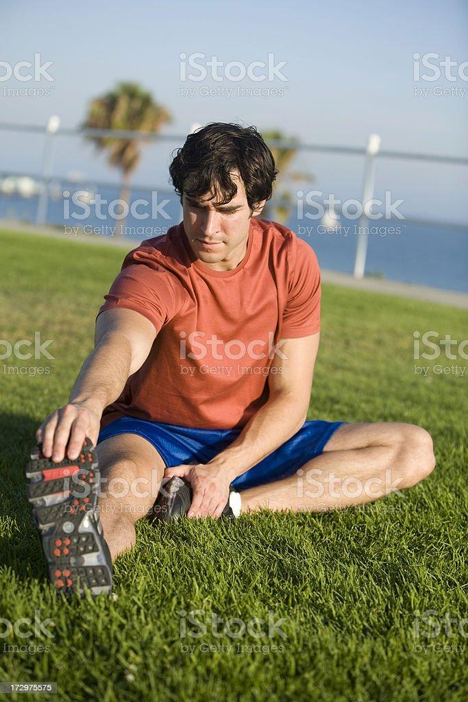 Leg Stretch royalty-free stock photo
