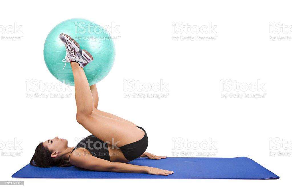 Leg & Torso Workout royalty-free stock photo