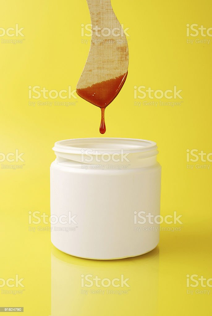 leg wax dripping royalty-free stock photo