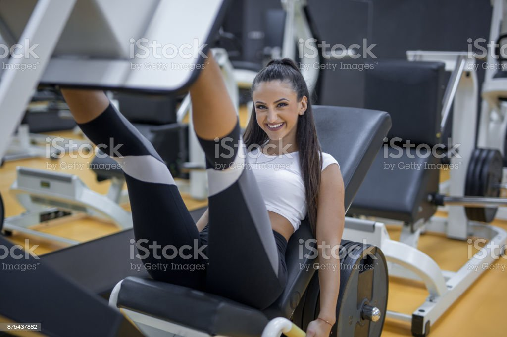 leg work out stock photo