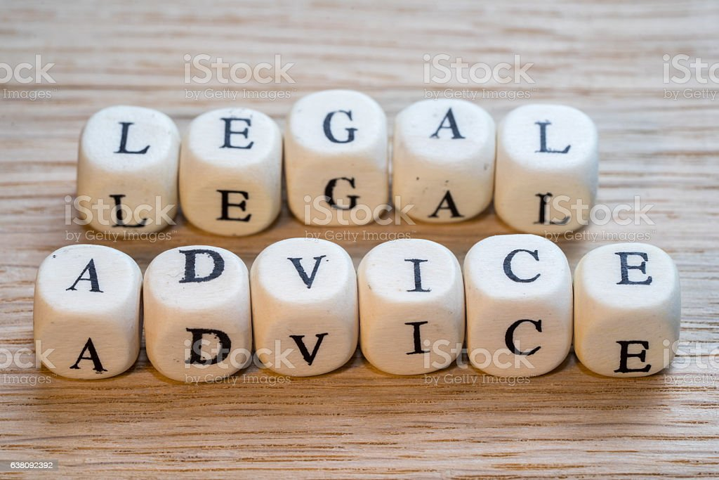Legal advice text - foto de acervo