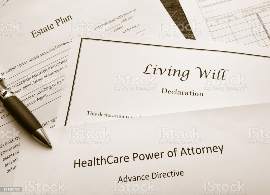 Legal and estate planning documents royalty-free stock photo