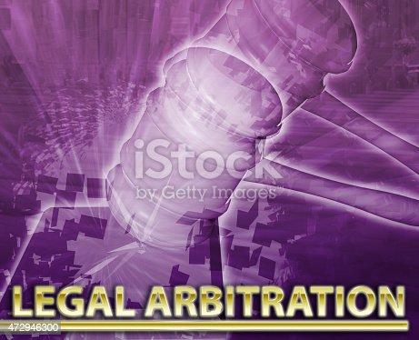 istock Legal arbitration Abstract concept digital illustration 472946300