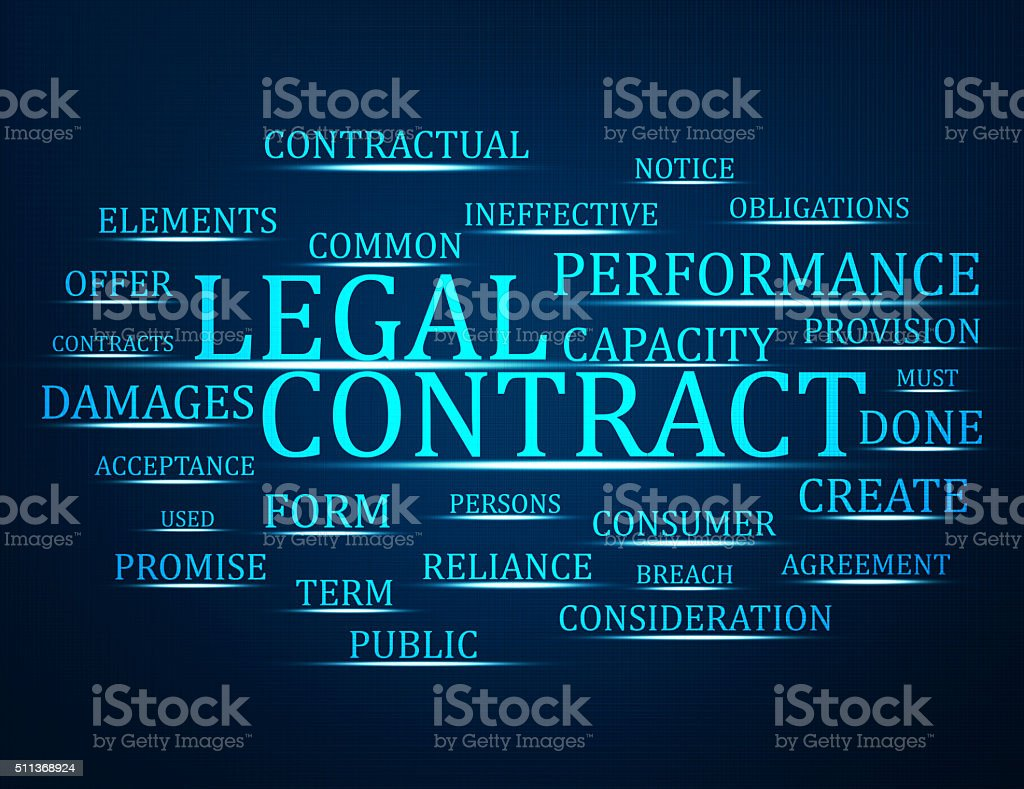 Legal contract stock photo