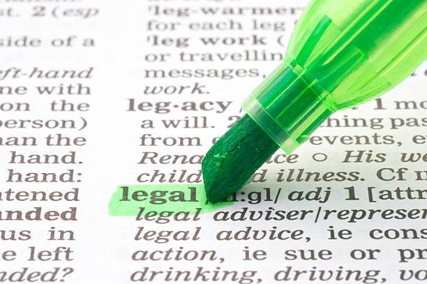 Rechtliche definition tagged im Wörterbuch – Foto