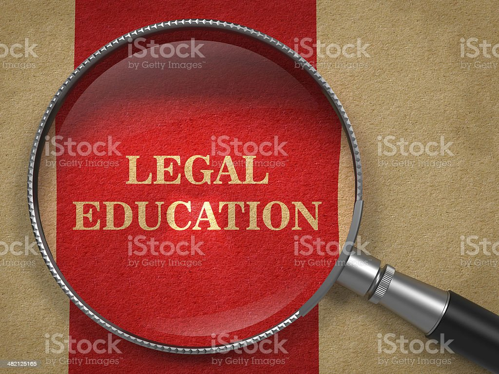 Legal Education Concept - Magnifying Glass. stock photo